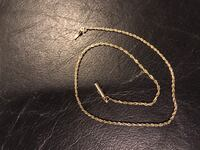 14k gold rope anklet Bowie, 20721