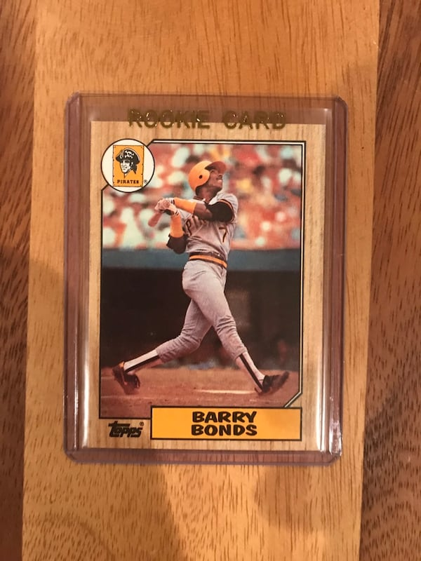Barry Bonds Rookie Baseball Card 746d7eef-4f33-416b-961c-891a6b890d9f