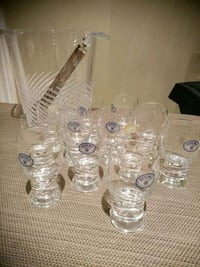Crystal Bohemia liquor glasses and ice holder or bottle cooler Vaughan, L4L 1A6