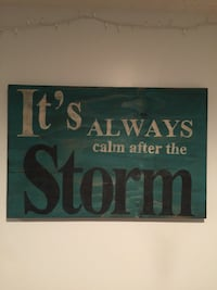 It's Always calm after the Storm wood wall decor