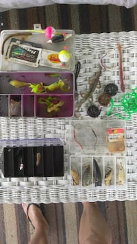 Fishing lures assortment with plastic container Tamarac