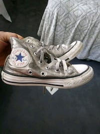 pair of gray Converse All Star high-top sneakers Wichita, 67209