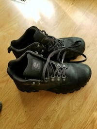 pair of black leather work boots Columbia, 21044