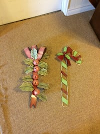 two green and red Christmas wall decors Zorra, N0J 1J0
