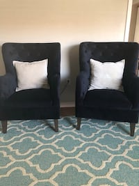 two black suede sofa chairs North Port, 34288