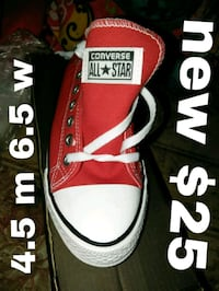 pair of red Converse All Star low-top sneakers Riverside, 92503