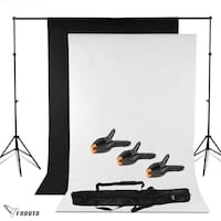 "black & white studio background set + stand ""BRAND NEW"" Toronto"