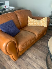 Leather couch and loveseat set  Calgary, T2P 3A8