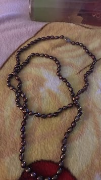 Culture pearl necklace. chocolate pearls Killeen, 76542