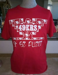 MEN'S RED 49ERS SI SE PUEDE T-SHIRT.