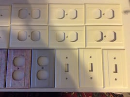 Plastic light switch and phone COVERS