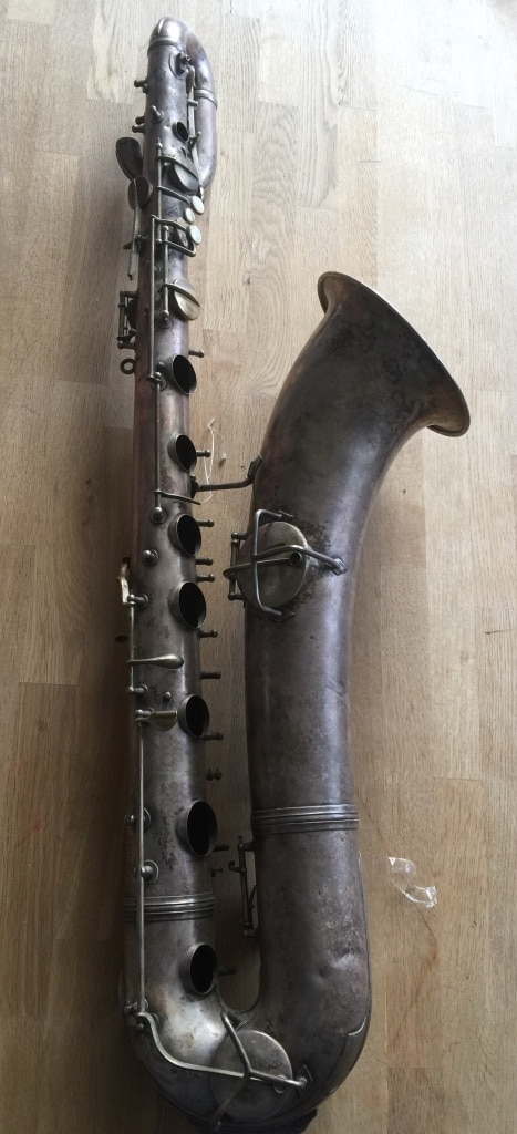 Conn New Wonder barytonsaxofon fra 1916/1917