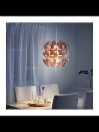 Round white and copper pendant light IKEA PS 2014 Gatineau, J8T