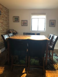 black wooden dining table set Laval, H7G 4Z7