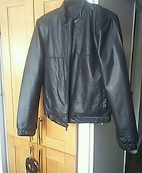 black leather zip-up jacket Calgary, T2B 1V2