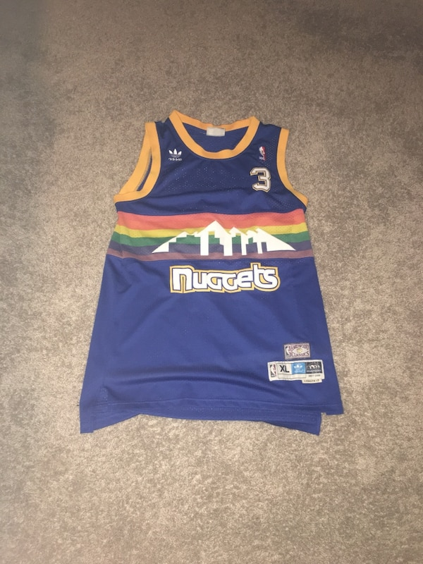 newest collection ac44b eab4f Allen Iverson Rainbow Nuggets Jersey (Great Condition)