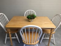 Solid Wood table w/ 4 chairs Burke