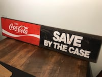 Vintage Double sided Coca-Cola Coke advertising metal sign Ottawa, K0A 3H0