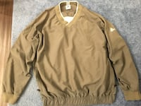 Men's xl adidas olive green pull over jacket Boyds, 20841