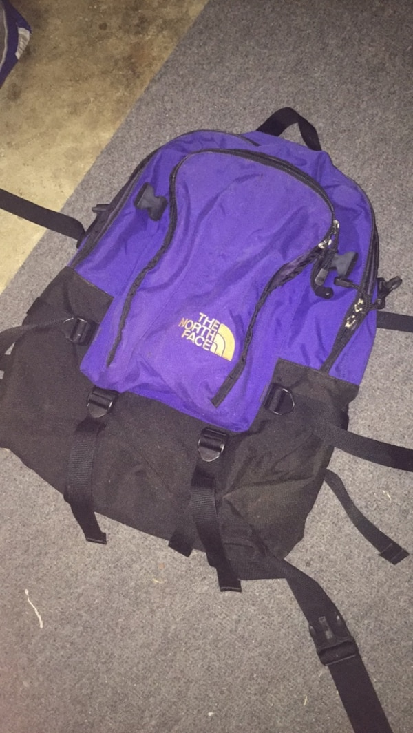Used purple and black The North Face backpack for sale in Santa Clara -  letgo 6f32a2f92cd2c