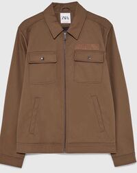 Men's BRAND NEW ZARA Khaki Jacket sz LARGE New York, 11415