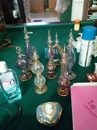 assorted glass bottles and vases Niles, 44446