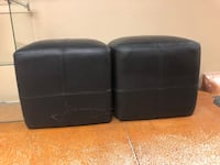 two black leather padded chairs Denver, 80210