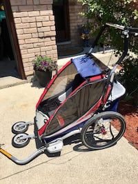 Like New Chariot Cross-country cx2 double stroller and bicycle hitch Hamilton, L9C 7J8