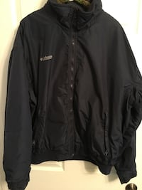 Large men's dark blue Columbia lined jacket Norton Shores, 49441