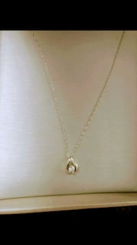 10k People's Jewelry White Gold necklace 554 km