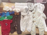 Total 12 pics, 0-3 and 3-6 months . Aden Swaddle changing pad leather shoes Surrey, V4N 3G9