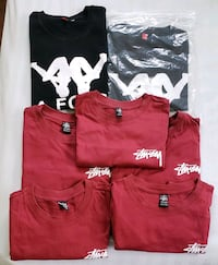 Stussy and Kappa defect tees, size S-M, unworn Vancouver, V5T 1L5