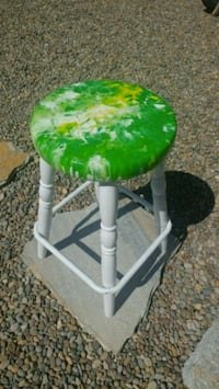 Refurbished barstool w/ resin coating. Veneta, 97487