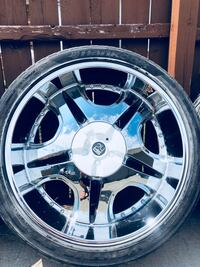 24 inch Wheels and Tires... Fits 6 lug by 5.5 inches.. off of a Chevy Tahoe... make offer! Owensboro, 42301