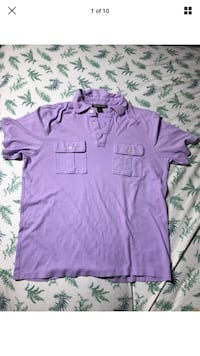 Michael Kors Official and Authentic Solid Purple Button-Up T-Shirt Size LARGE London, N6G 2Y8