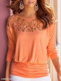 Coral Round Neck Hollow out top - Size 3xl Alexandria, 22315