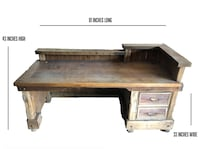 Two handcrafted executive desks made from reclaimed barn wood Park City, 84098