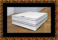 Queen mattress double pillowtop with box spring 54 km