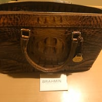 BRAHMIN MELBOURNE COLLECTION ASHER BAG TOASTED ALMOND
