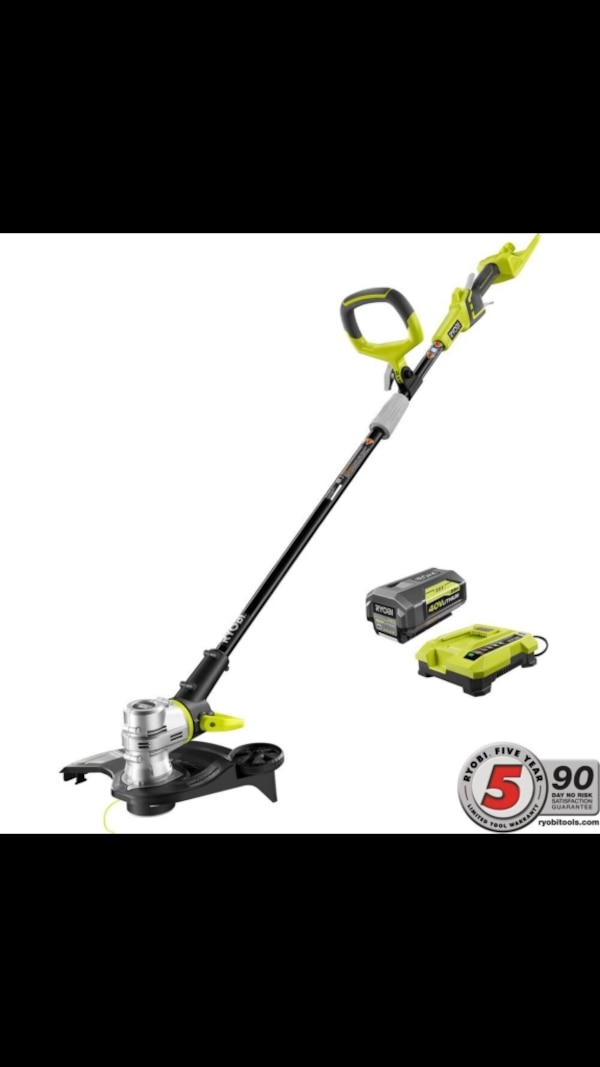 Ryobi 40-Volt Lithium-Ion Cordless String Trimmer-Edger - 2 6 Ah Battery  and Charger Included