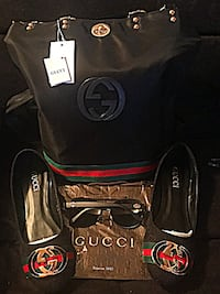 BLACK GUCCI BACKPACK SET Modesto