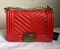 red leather Chanel sling bag Edmonton, T6G 2L7