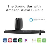 Polk Audio 2.1 Channel Sound bar system with Amazon Alexa Built-in and Wireless Subwoofer Brampton