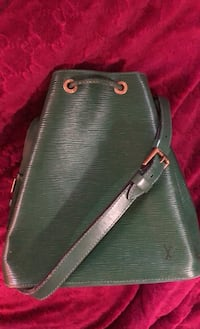 Louis Vuitton Green Leather Bucket Bag New York, 10312