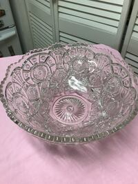 Large vintage crystal bowl Bryan, 77803