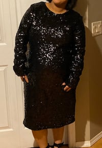 Black sequin dress great for party never used brand new xlarge size Calgary, T3J 3X9