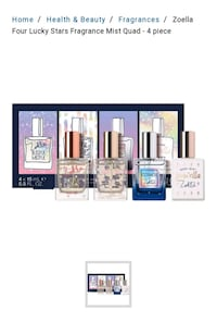 Zoella Four lucky stars limited edition fragrance