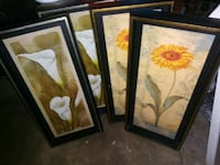 two brown wooden framed painting of flowers South Gate