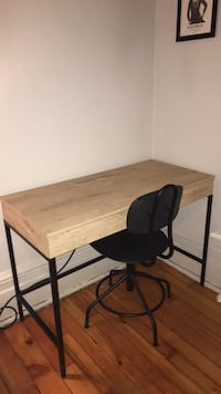 Desk and chair - wood and iron Montréal, H4C 2H4