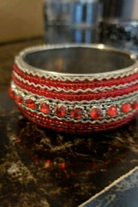 Red n silver bangle Woodbridge, 22192